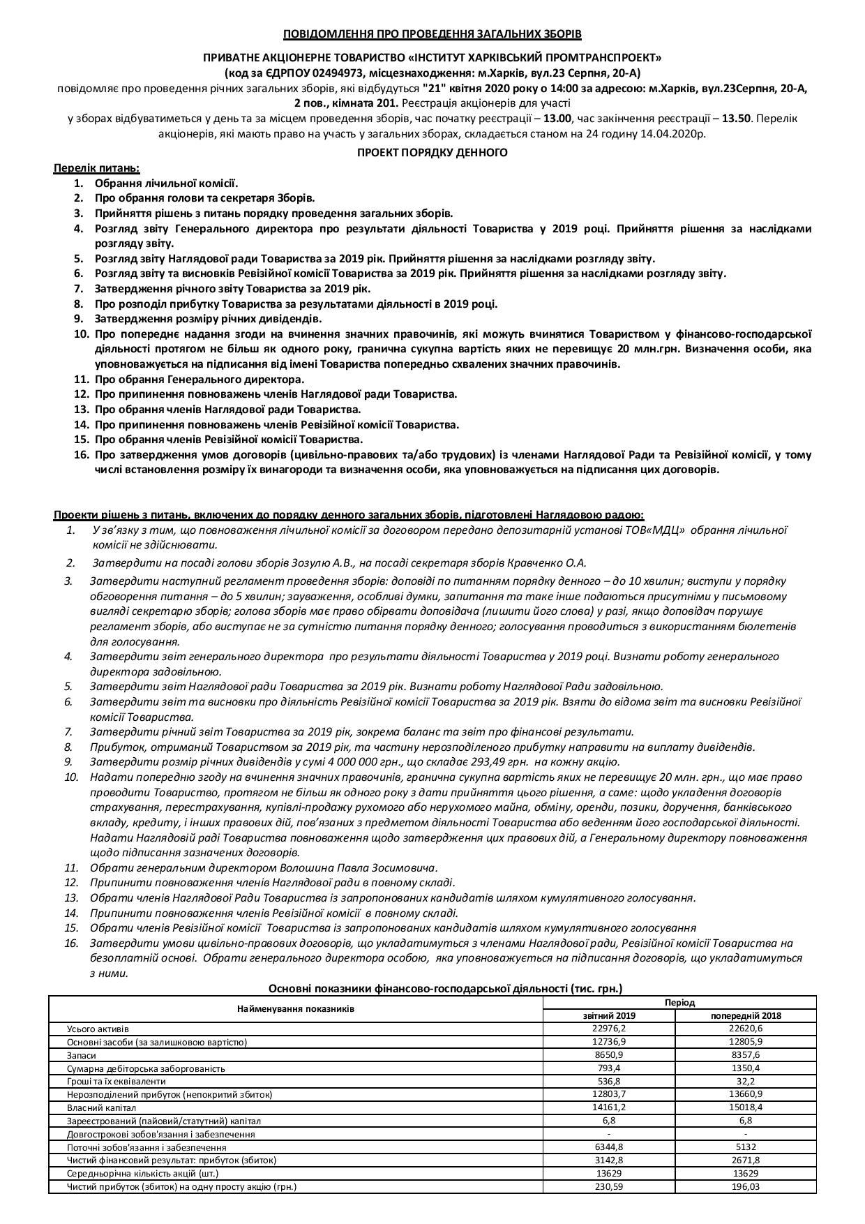 Годовое общее собрание 21.04.2020г.